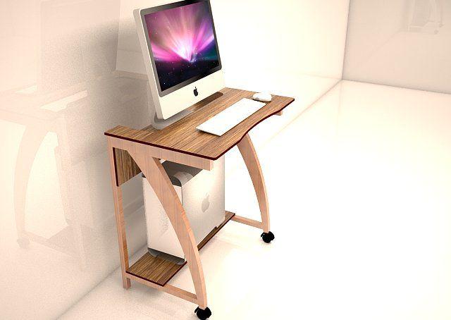 Una simple mesa para pc facil de hacer de echo fabricamos - Como hacer una mesa de ordenador ...