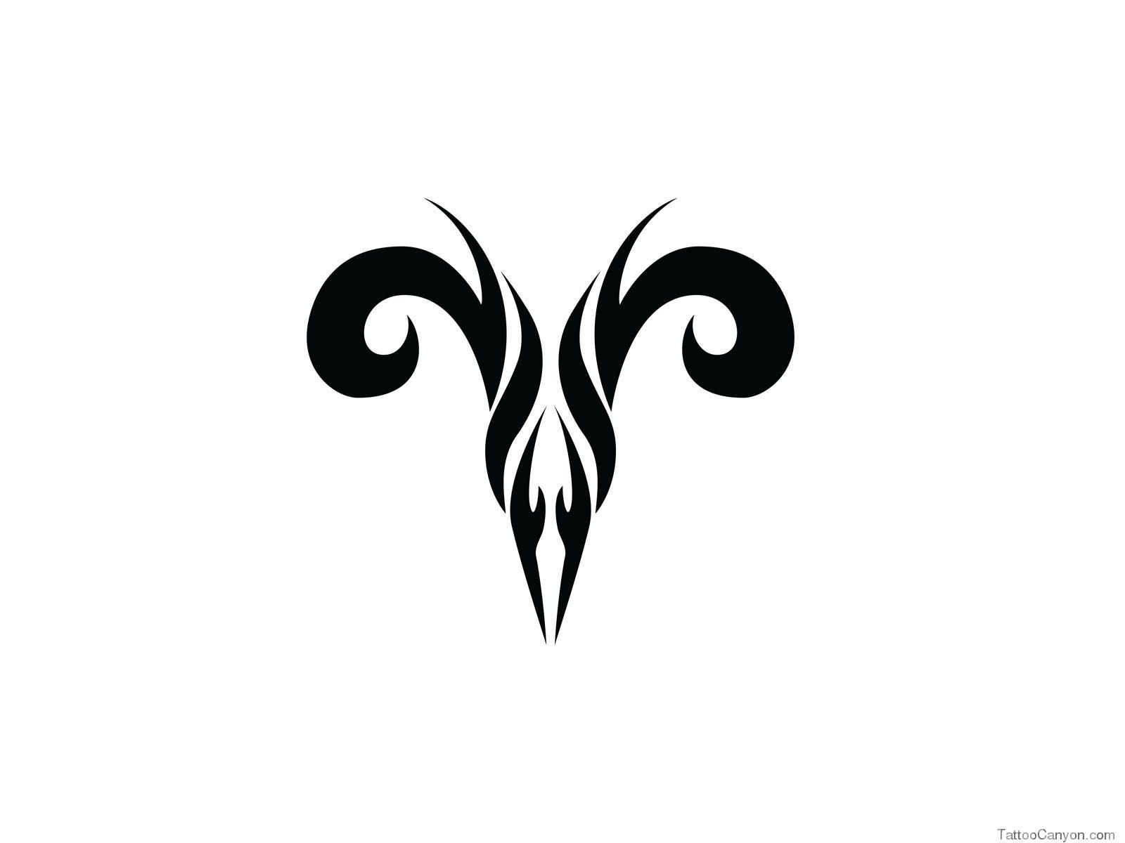 Free Designs Zodiac Aries Tribal Tattoo Wallpaper Picture 15271