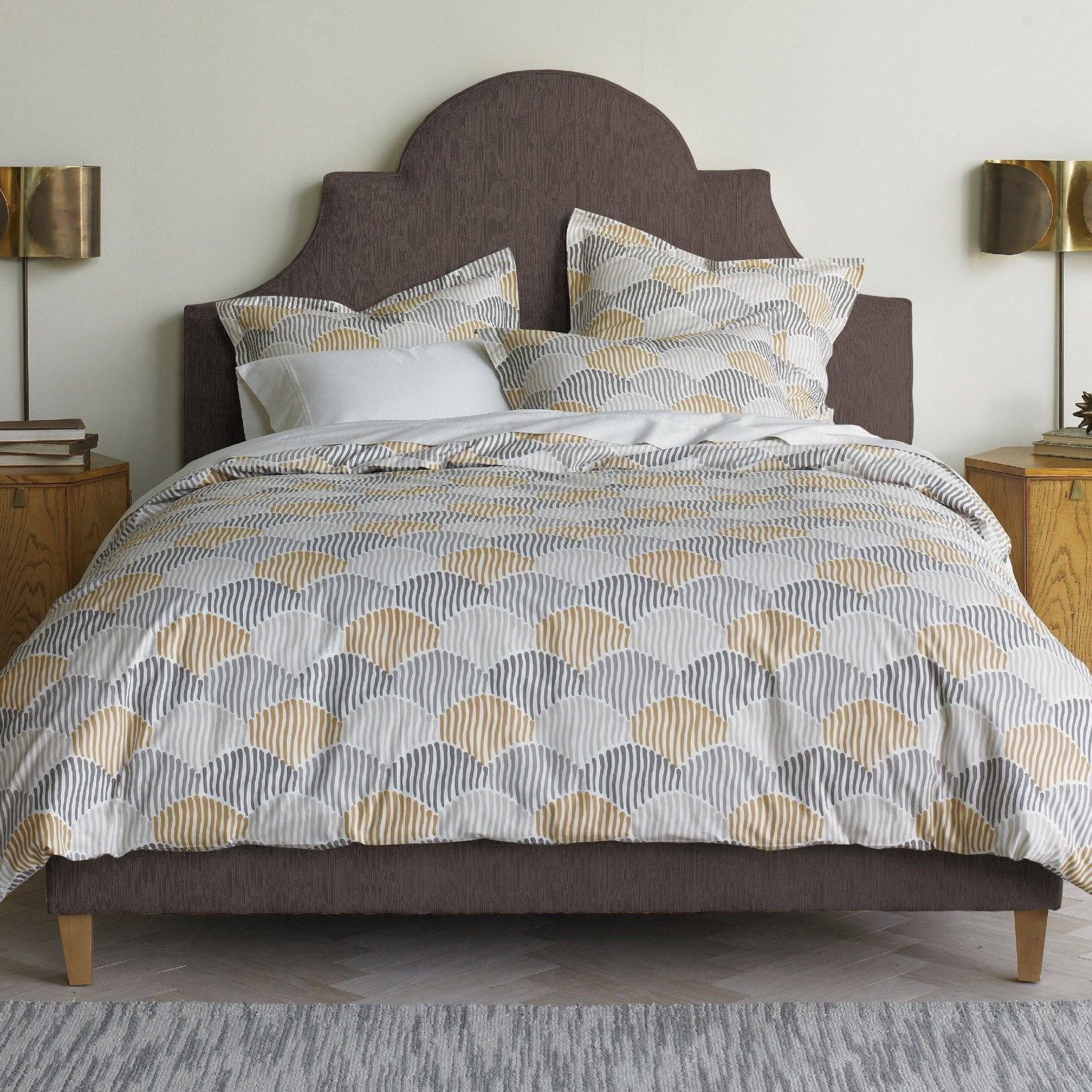 scallop peri scalloped home duvet chenille ebay cover by itm inuse