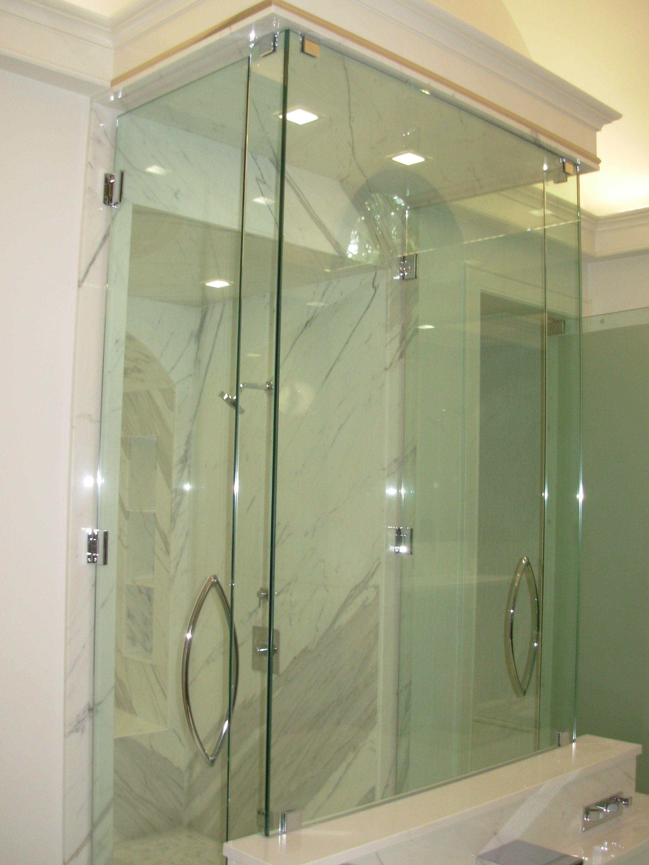 Frame Less Shower Enclosure A Christian Glass Delray Beach Fl