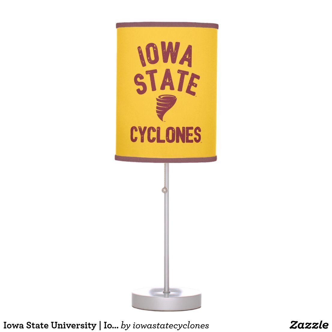 Iowa State University | Iowa Cyclone Distressed Table Lamp | Zazzle.com