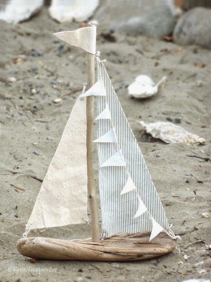 Holz Segelboot Bauen Maritime Deko Treibholz Basteln Und Holz