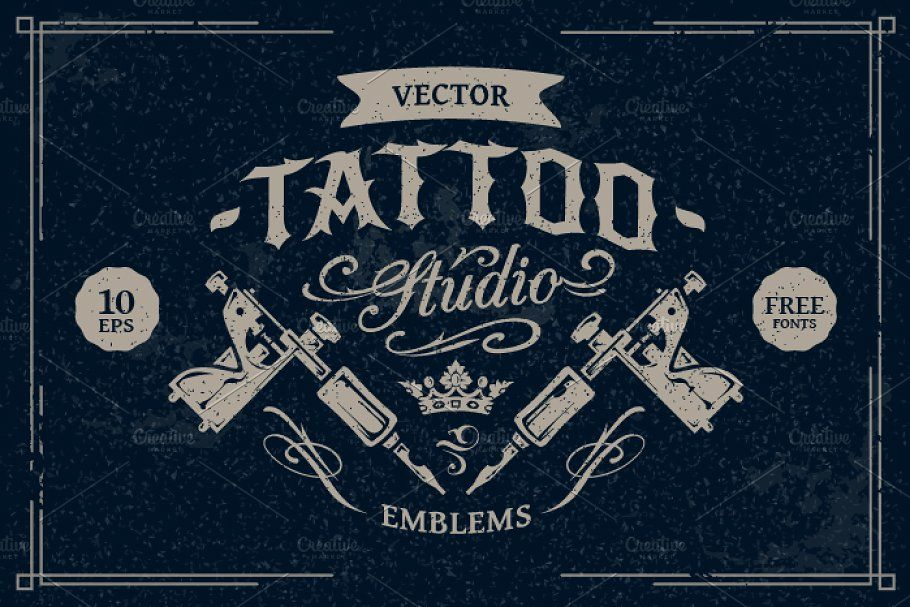 Tattoo Master Vector Pack Logo Templates Creative