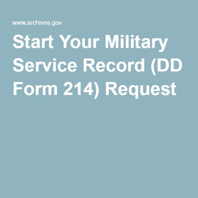 Request Your Military Service Records Online By Mail Or By Fax