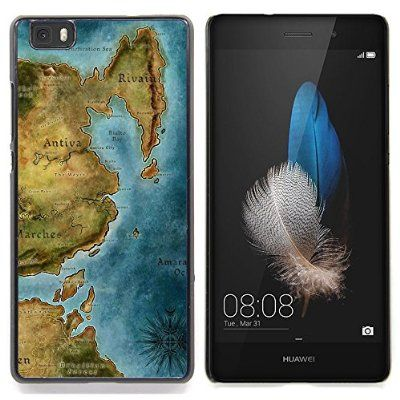 For HUAWEI P8 Lite - Ancient Map Continent Sea Ocean Chart /Design Hard Plastic Protective Case Slim Fit Cover/ - Super Marley Shop -:Amazon.co.uk:Electronics