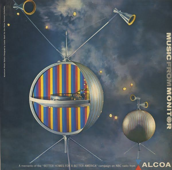 Unearthed In The Atomic Attic Music From Monitor In 2020 Album Covers Vintage Graphic Design Sphere Design