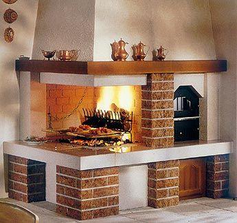 Camino rustico con forno :)) wow