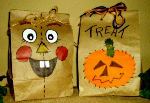 Halloween Brown Bag Treat Bags And 19 Treat Recipes Halloween