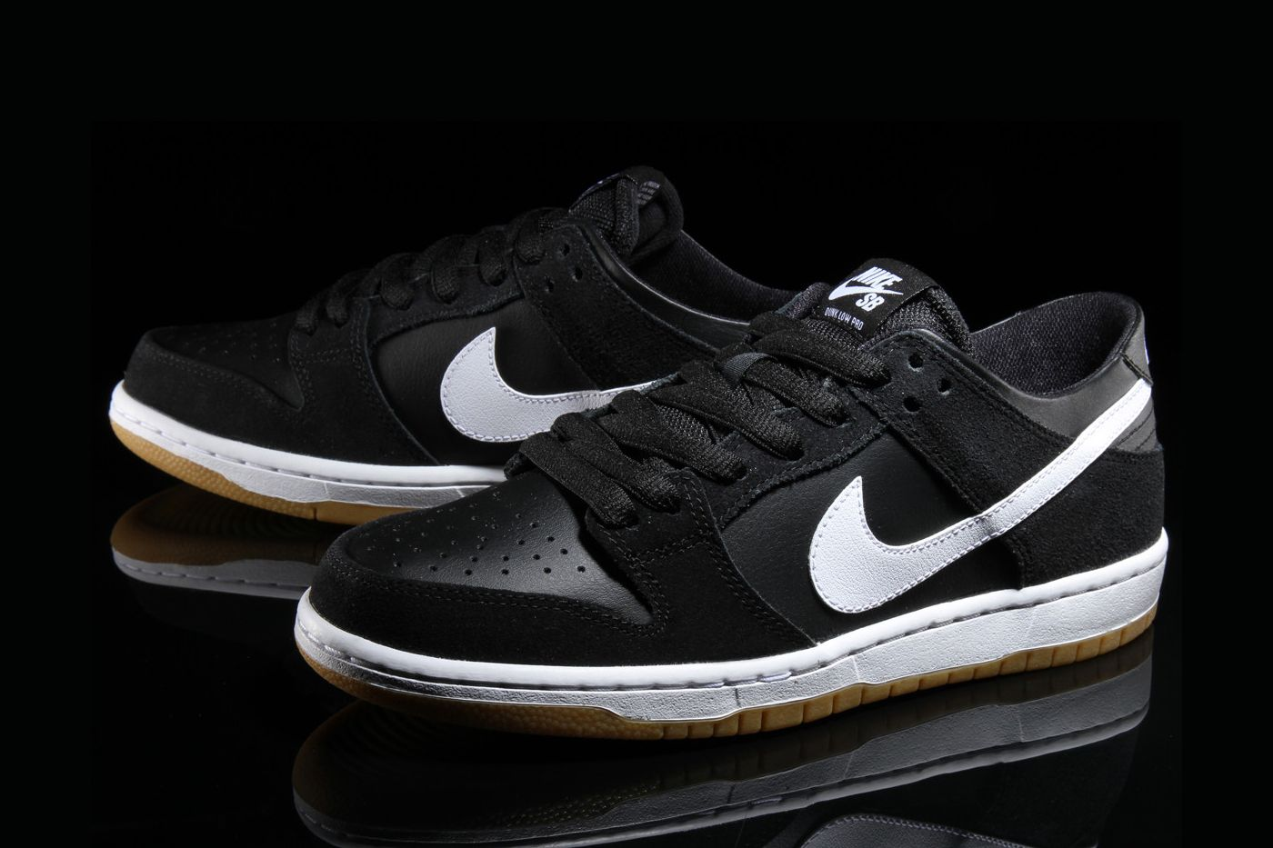best service 3d4d3 1e732 The Nike SB Dunk Low Pro Gets Dressed in a Classic BlackWhiteGum Colorway