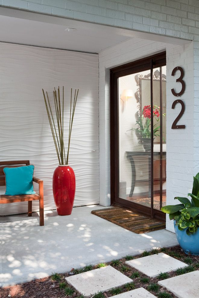 Illustration Of Present Artistic House Address Numbers By Decorating Art Deco  House Numbers