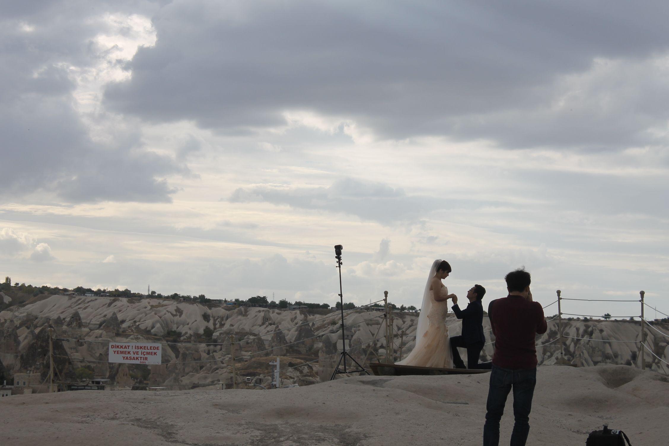 Sesión de fotos de una boda korena en la Capadocia