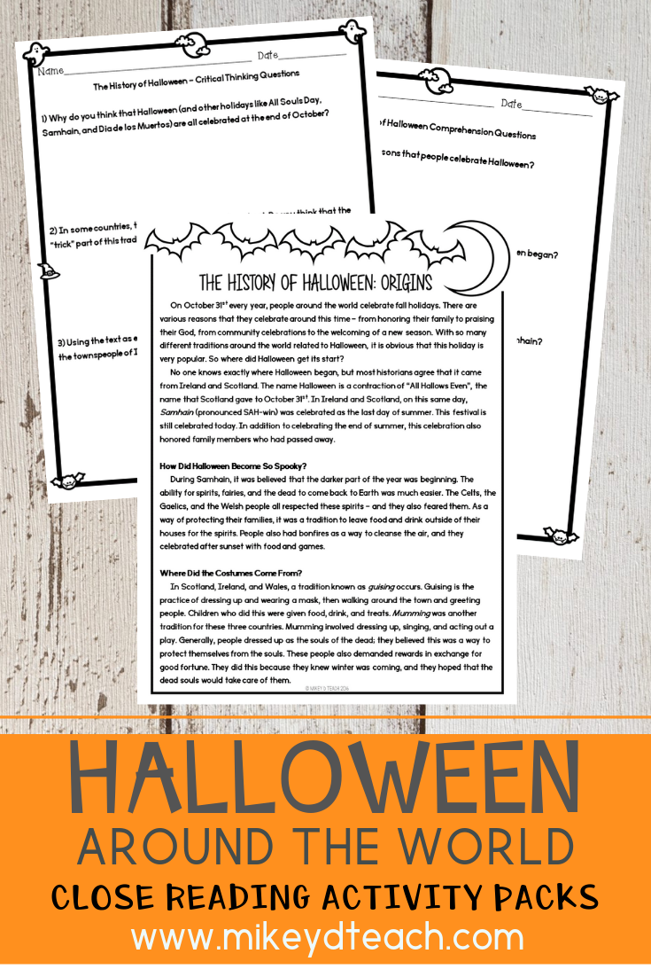 The History of Halloween Around the World {BUNDLE} #historyoftheworld