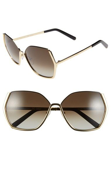 fae4748543 Free shipping and returns on Chloé  Danae  60mm Gradient Sunglasses at  Nordstrom.com. Geometric gradient lenses shade refined Italian sunglasses  with retro ...