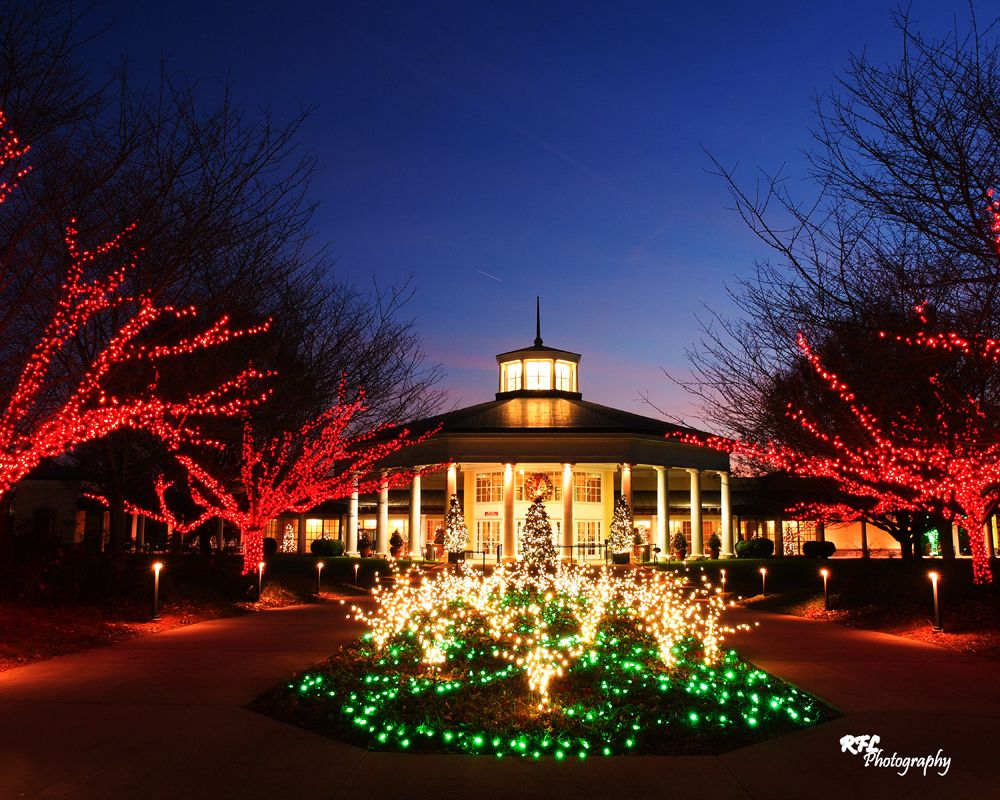 The Visitor Pavilion during Holiday Lights Holiday