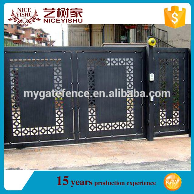 Source cheap single sliding modern laser cut gate design for International decor main gates