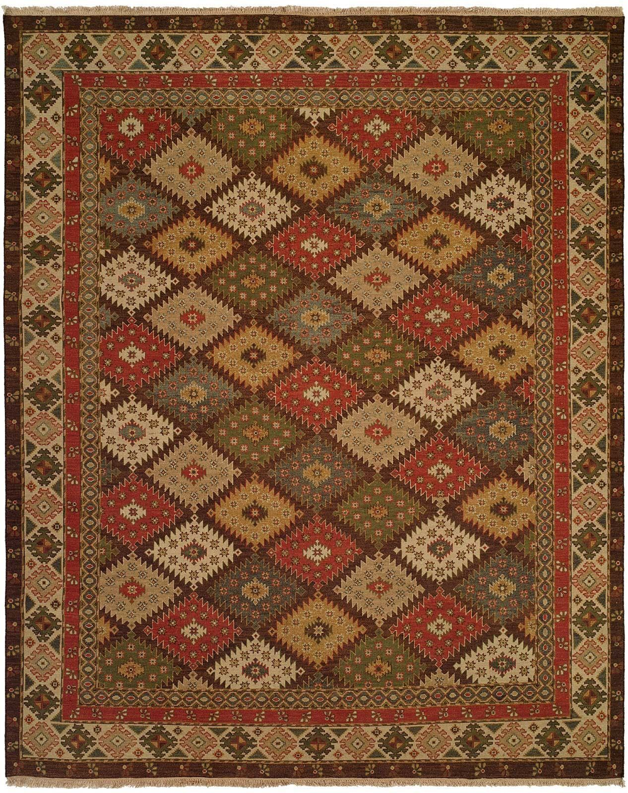 Qasr Hand Woven Green Red Area Rug Products Pinterest Throw