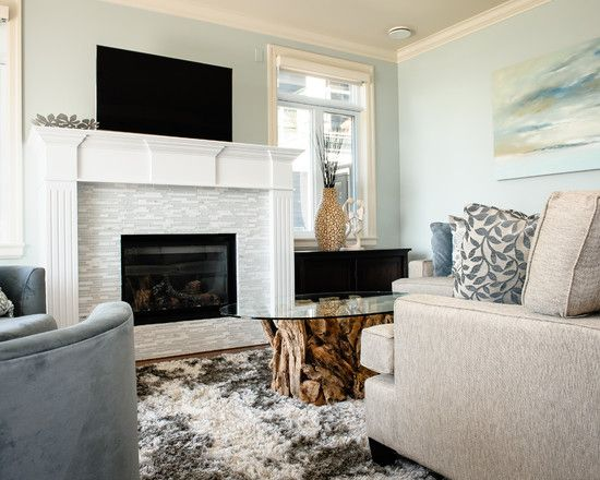 Beautiful Glass Mosaic Fireplace Surround Looks Perfect For Your ...