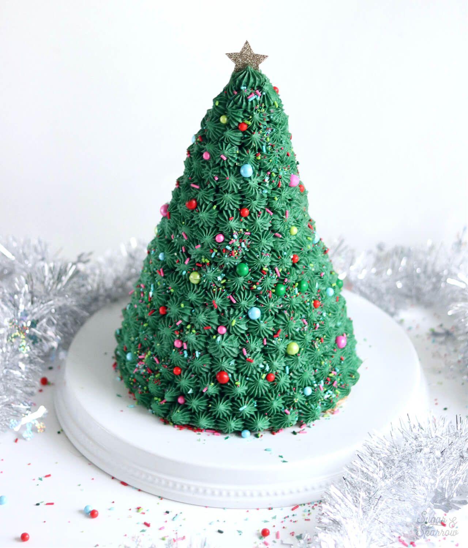 How To Make A Christmas Tree Cake Christmas tree cake