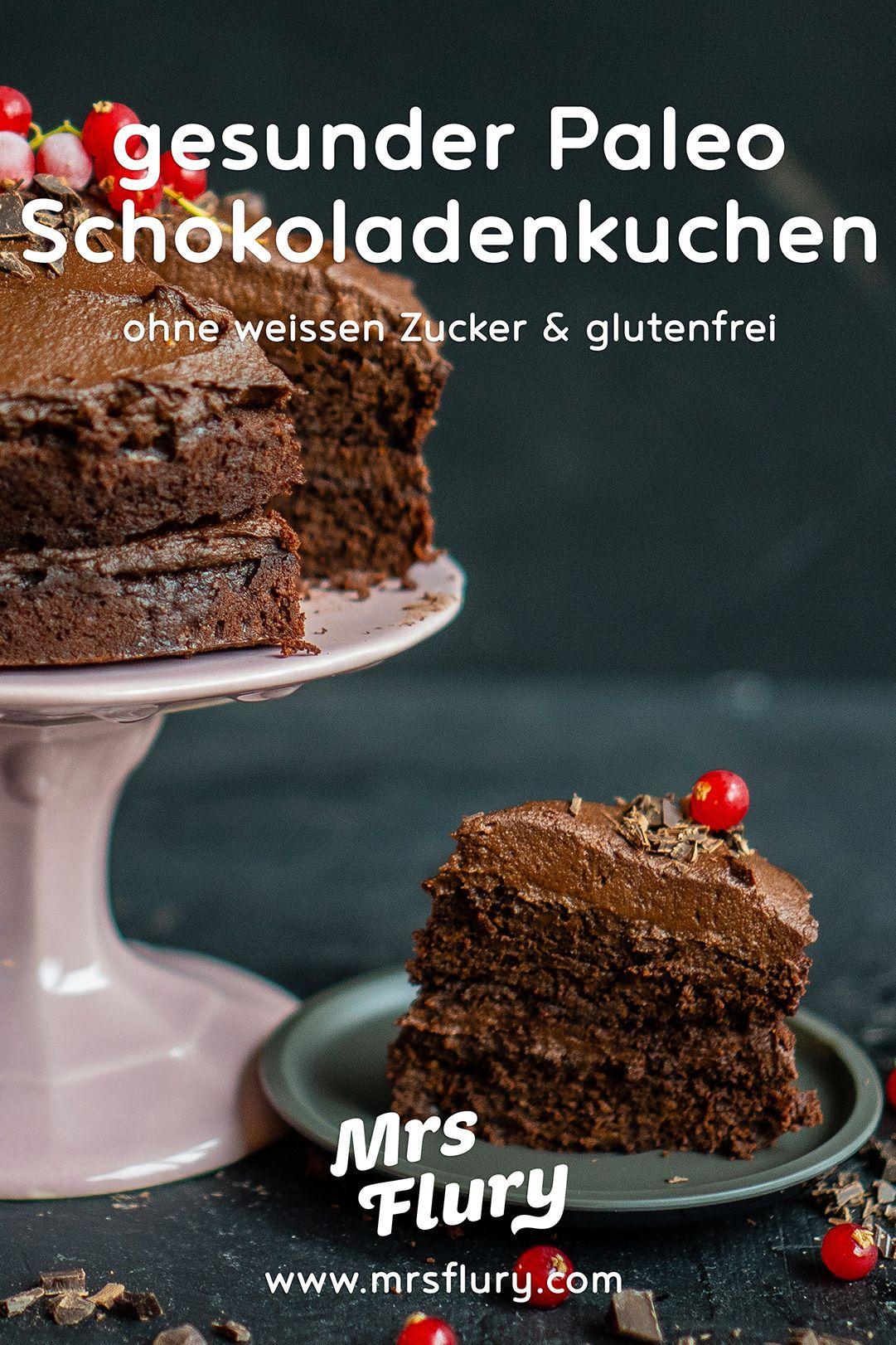 Paleo Schoko Kuchen mit Süsskartoffel - gesund & glutenfrei - Mrs Flury
