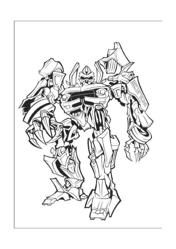 Transformers Ausmalbilder Malvorlagen Zeichnung Druckbare Nº 6
