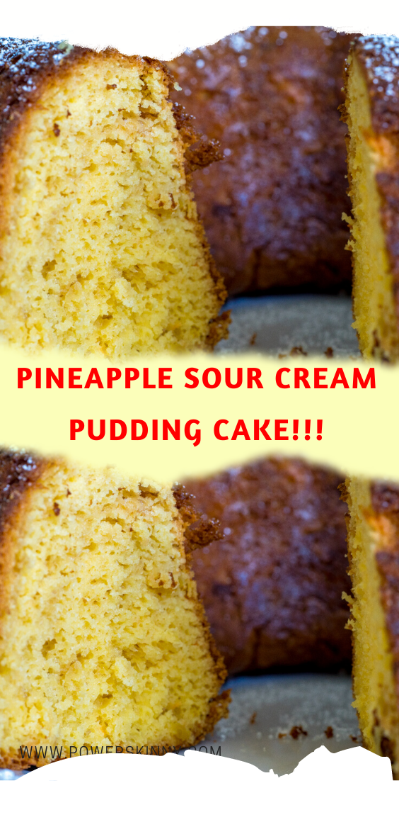 Directions In A Small Bowl Combine Pineapple With The Juice And The Baking Soda Mix Well In A Large Mixing Bowl Co In 2020 Pudding Cake Sour Cream Sour Cream Cake