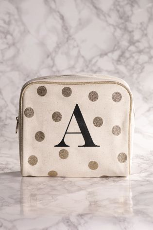 Cute Polka Dot Letter Makeup Bag For Gifts