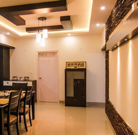 Small pooja room designs in hall pooja cabinet for Dining hall design ideas