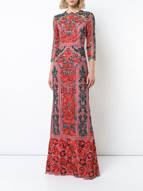 b0886cfc04c67 $995 – MARCHESA NOTTE floral lace gown | farfetch | looks in 2019 ...