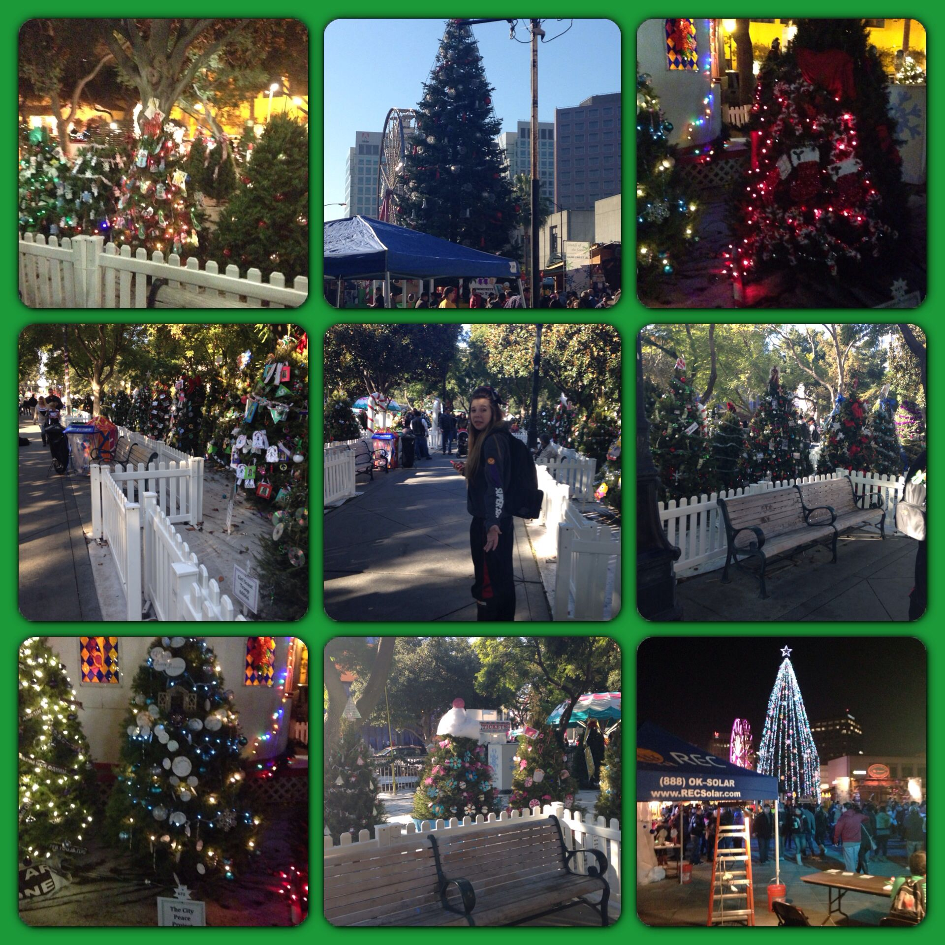 enjoying the christmas in the park san jose ca while at our daughters