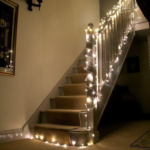 100 Warm White Led Indoor Bedroom Fairy Lights On 8m Clear Cable By Lights4fun Warm White Fairy Lights White Fairy Lights Christmas Lights