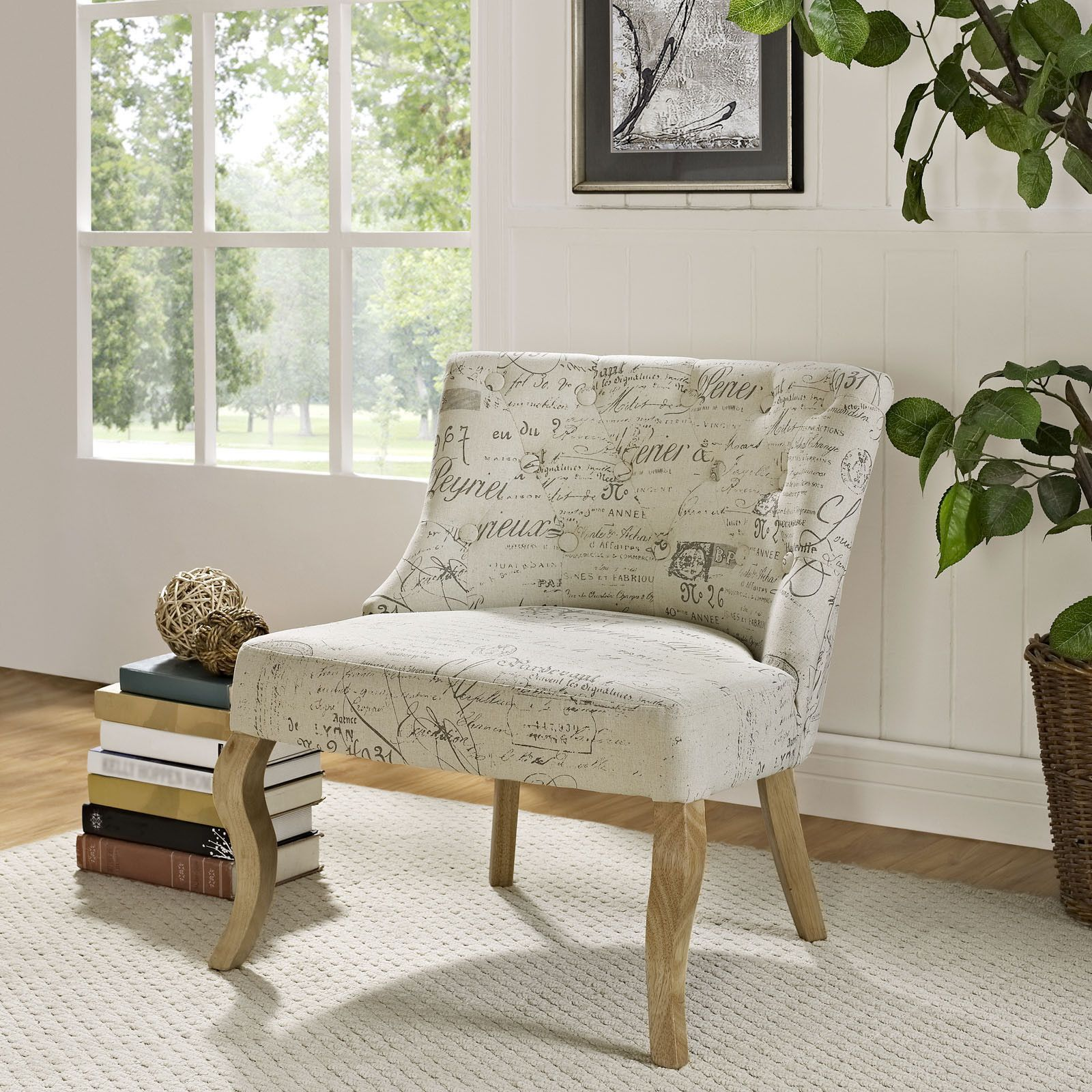 Ville Marie Fabric Armchair | Fabric armchairs, Living ...