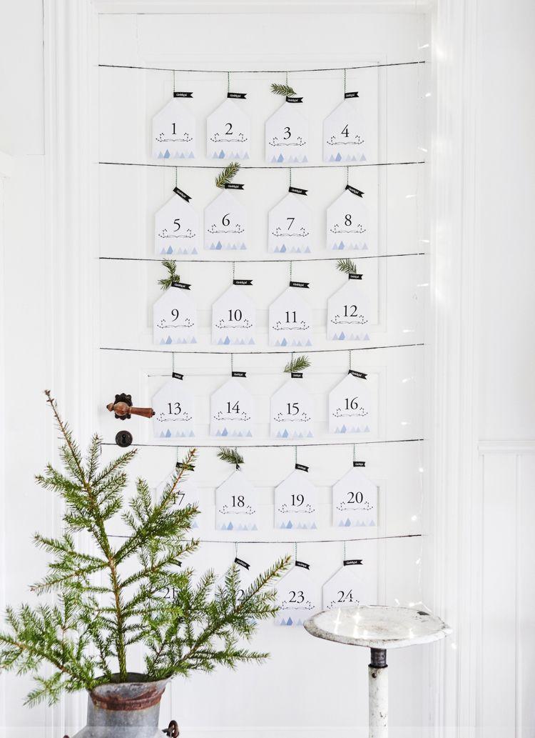 adventskalender selber basteln papier wand minimalistisch briefumschl ge weihnachtsdeko ideen. Black Bedroom Furniture Sets. Home Design Ideas