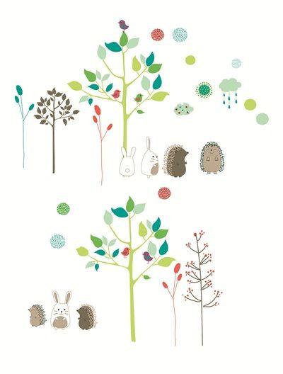 85 Stickers Chambre Bebe Theme Pic Nic Vert Vertbaudet Enfant
