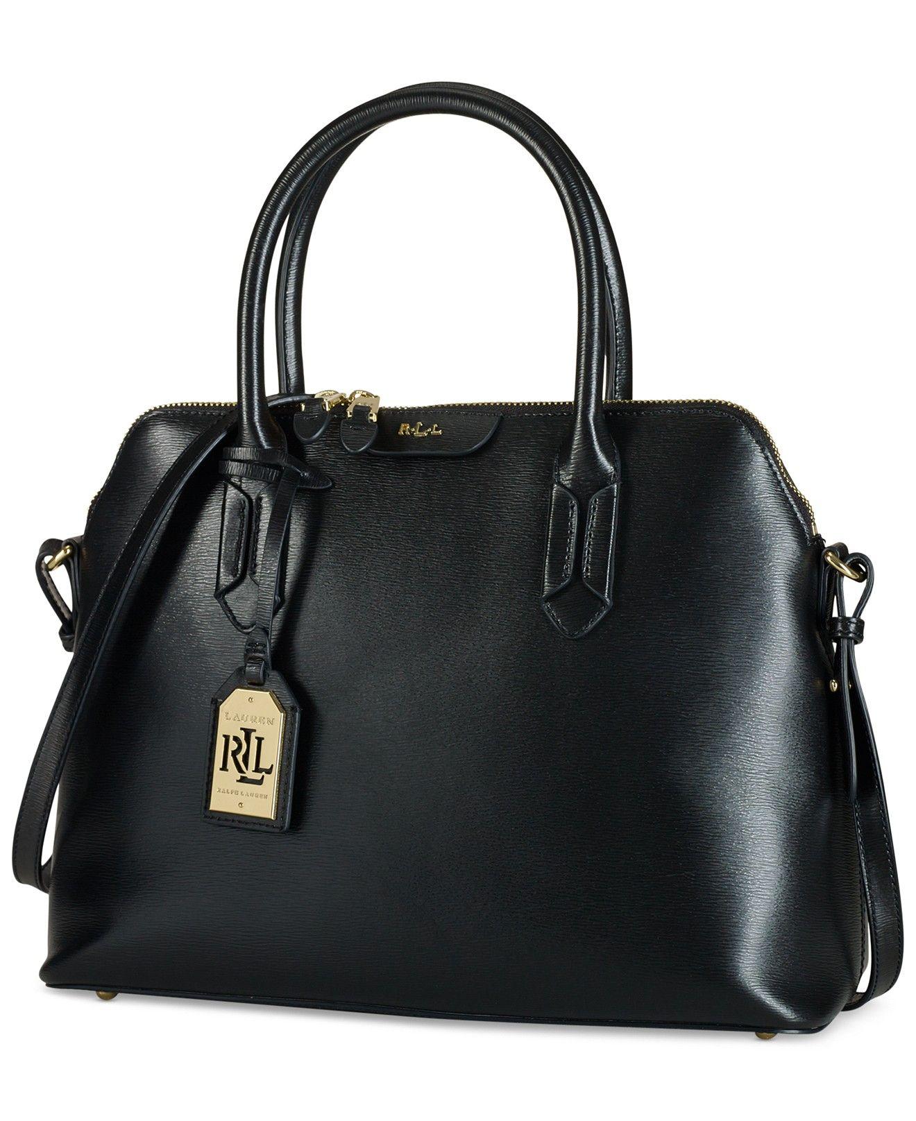 8aa7e919344e5 Lauren Ralph Lauren Tate Dome Satchel - Designer Handbags - Handbags    Accessories - Macy s