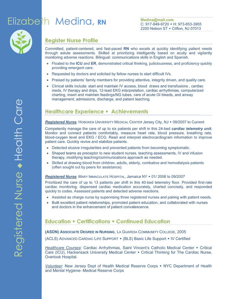 Entry Level Nurse Resume Sample | Sample Resumes | Sample Resumes ...