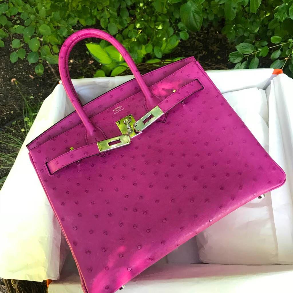 83c45f54cd Hermes Rose Pourpre Ostrich birkin 30 pursebop birthday baggie hermes fsh  hermes ostrich