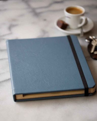 Leather iPad Book Style Case - Penny Black ~ aukward ~ handmade in Britain