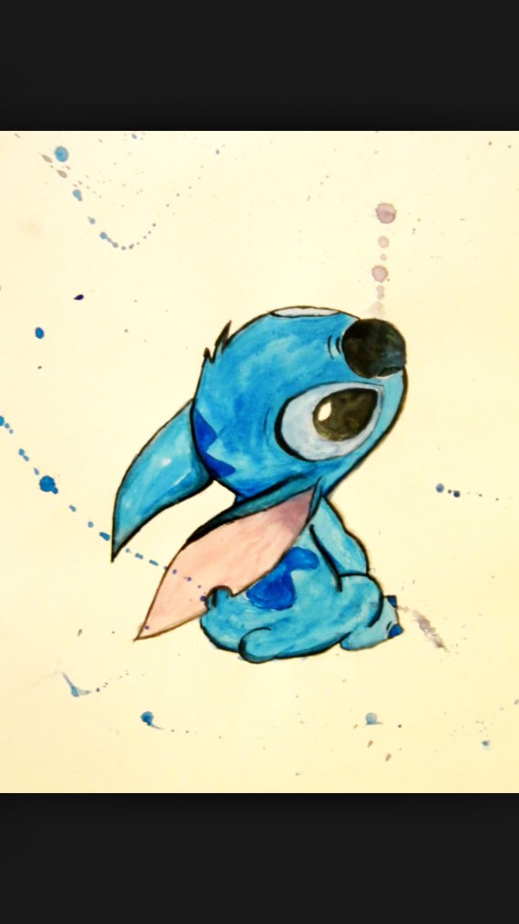 Watercolor Stitch Disney Disney Drawings Disney Art