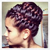 two tiered hair bun infinity braid