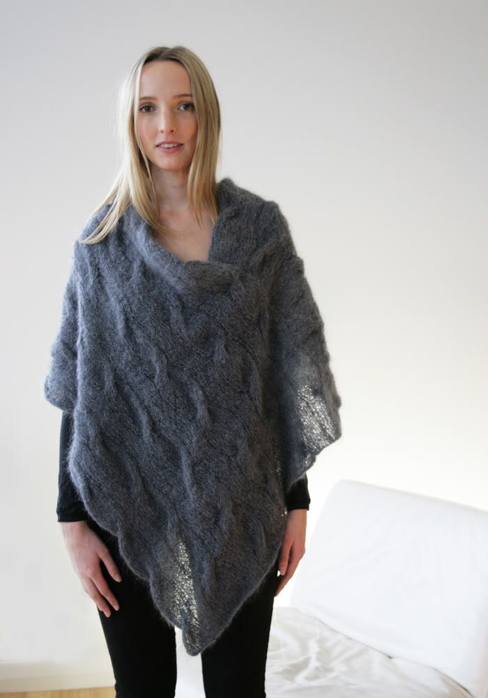 e6433437575ce4 Knit Jo Sharp — 331 Mohair Cable Poncho - digital download
