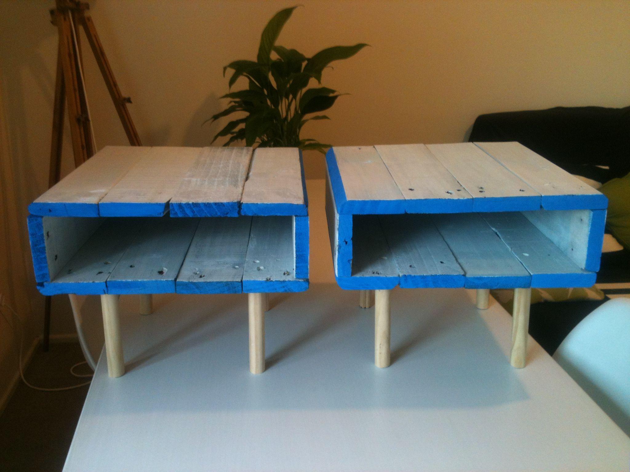 pallet bedside tables diy   designs   pinterest   tables, pallets