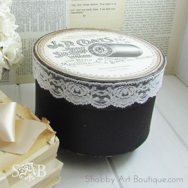 I'm being haunted by a Vintage Sewing Box - Shabby Art Boutique