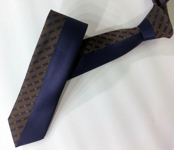 Dark Blue Cravat Men's Tie Dark Blue Men's Necktie by PeraTime #handmadeatamazon #nazodesign