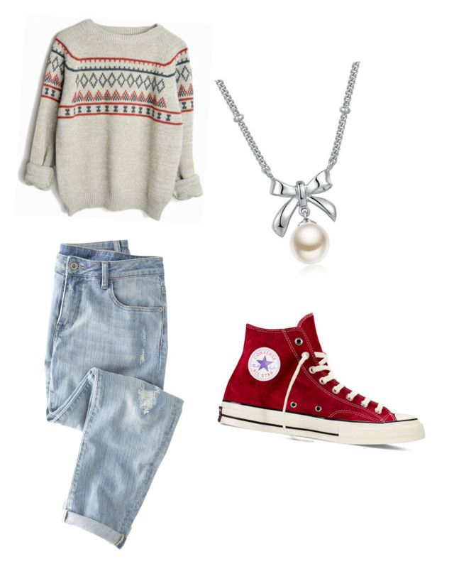 """cozy outfit"" by texastator on Polyvore featuring Wrap, Converse and MBLife.com"