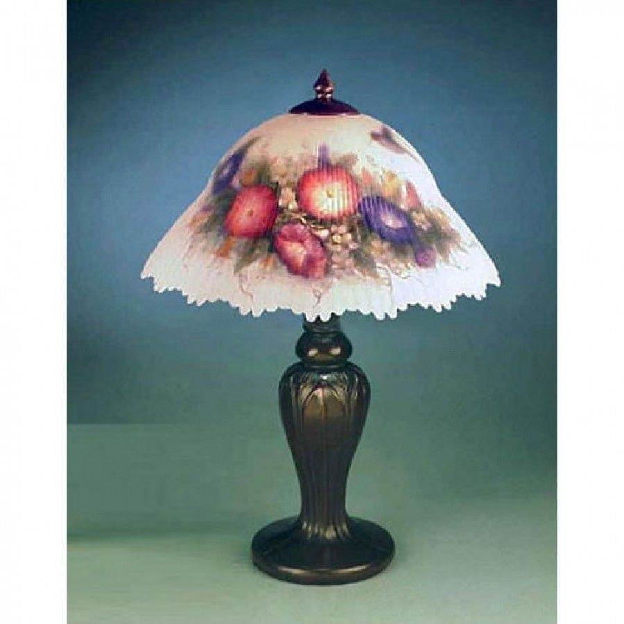 Dale Tiffany Lamps Glynda Turley Hummingbird And Flower Table Lamp In Antique Brass