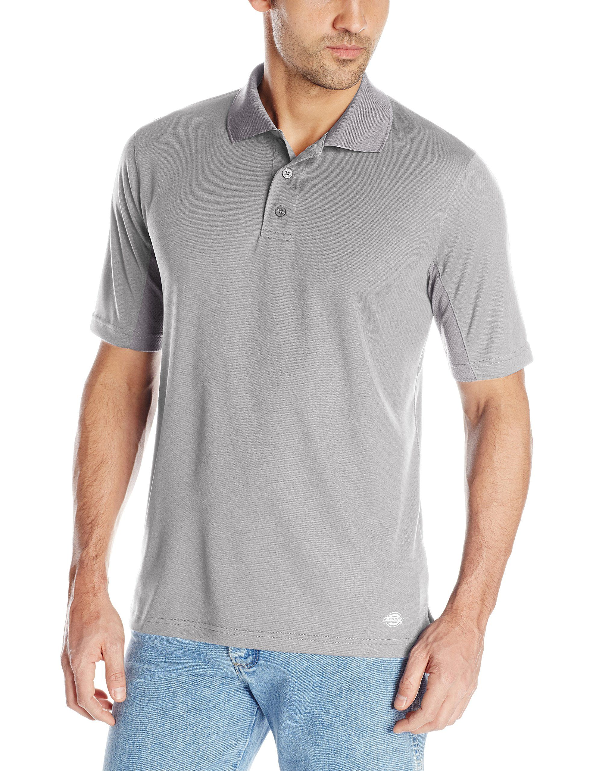 Dickies Mens Short Sleeve Performance Cooling Polo Smoke 2x