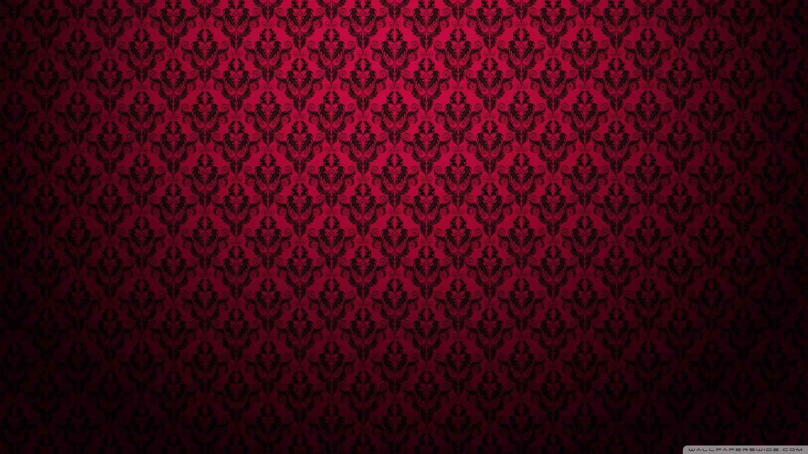 Background Pattern Red Lastest Red Pattern Hd Desktop Wallpaper Widescreen High Definition Within Backgro Pink Damask Wallpaper Pattern Wallpapers Red Damask