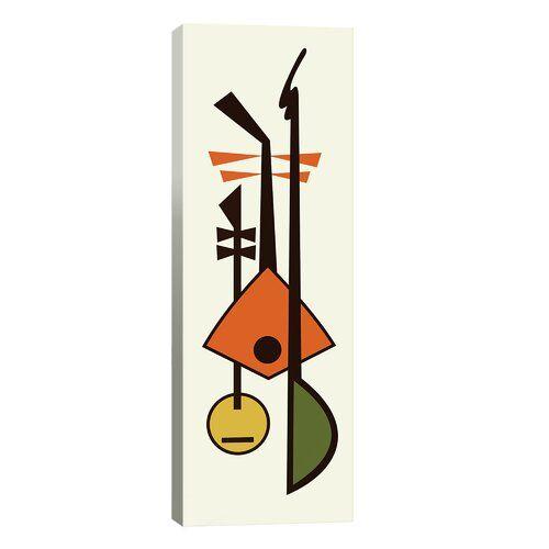 Corrigan Studio Leinwandbild Mid Century Musical Instruments II | Wayfair.de #musicalinstruments