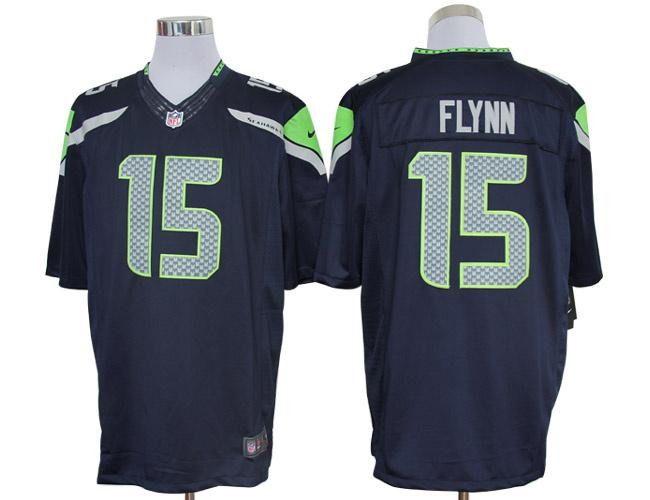 2012 nike nfl seattle seahawks 15 matt flynn blue limited jerseys