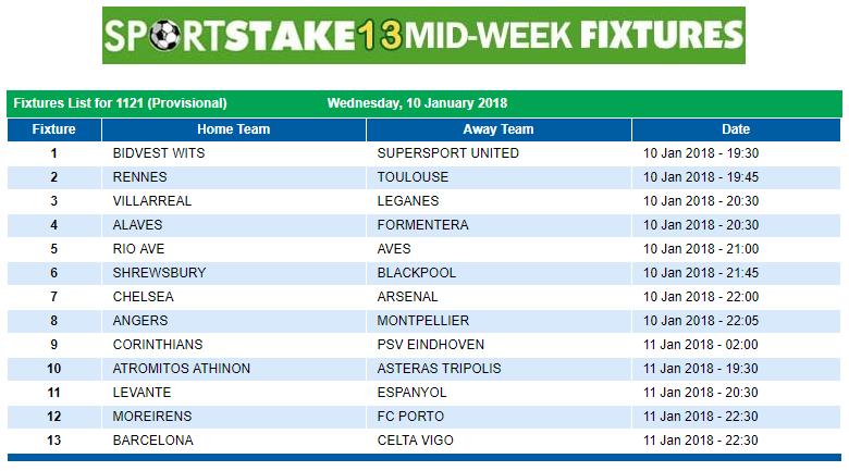 Mid Week Fixture Played   Asdela